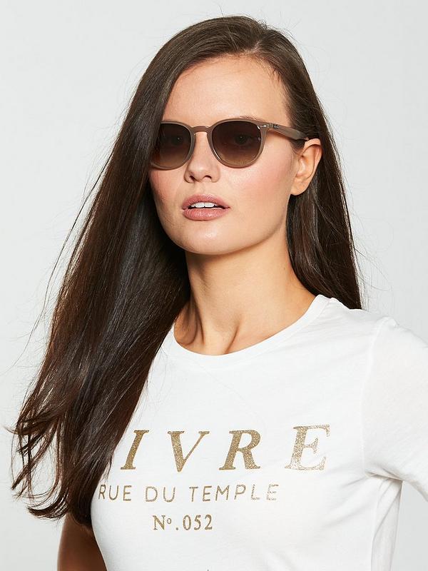 Ray Ban Irregular Shiny Opal Sunglasses