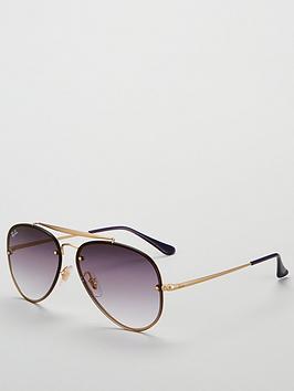 ray-ban-blaze-aviator-demi-gloss-sunglasses-purplegold
