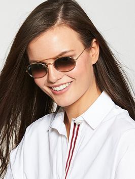 ray-ban-ovalnbspmetal-tinted-brow-bar-sunglasses