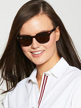 Ray-Ban Ray-Ban Square Striped Havana Sunglasses Picture