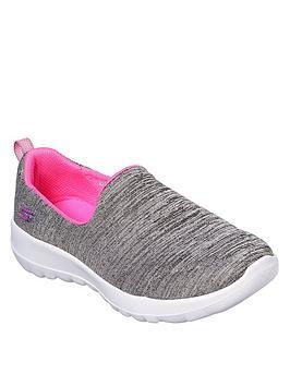 skechers-gowalk-joytrade-slip-on-shoes-greypink