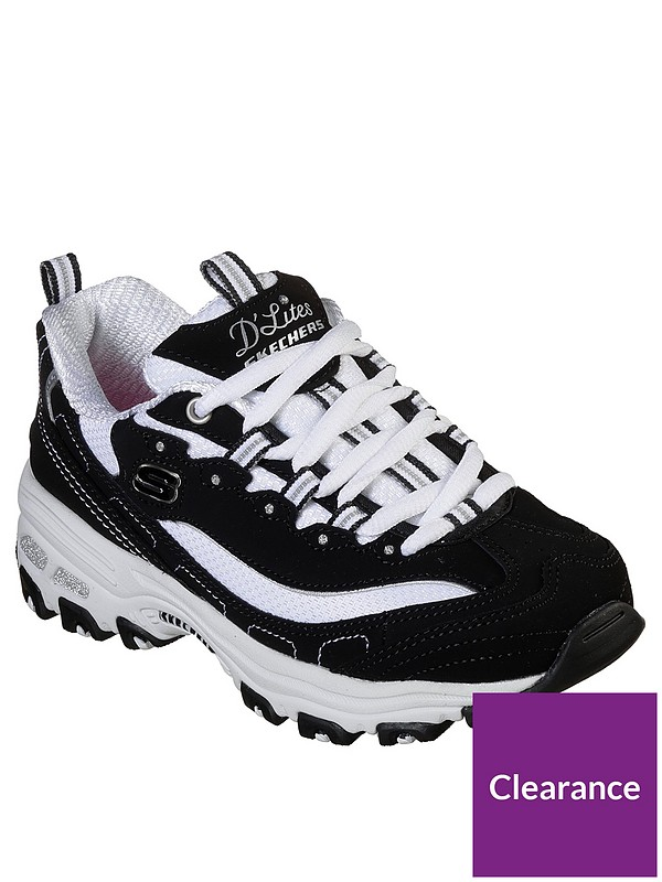 White Dlites Memory Foam Trainers Lace