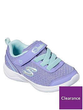 skechers-toddler-sparkle-mesh-strap-trainers-lilac