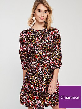 whistles-floral-meadow-cinched-print-dress-multi