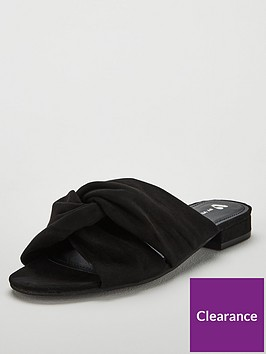 v-by-very-henie-twisted-knot-wide-fit-slip-on-sandals-black
