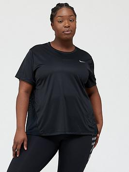 Nike Nike Running Ss Miler Top (Curve) - Black Picture