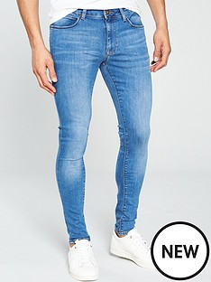 river-island-mid-blue-ollie-super-skinny-spray-on-jeans