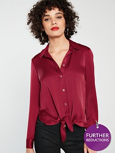 river-island-tie-front-shirt-red