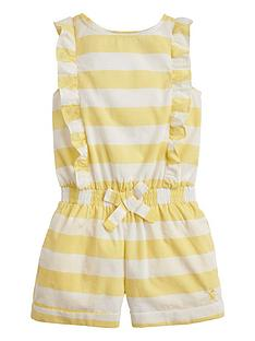 4666d25a2831 Joules Toddler Girls Ellie Stripe Frill Playsuit - Yellow