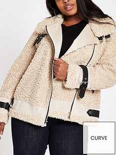 ri-plus-faux-fur-aviator-jacket-brown