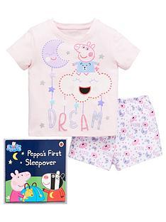 peppa-pig-peppa-pig-girls-dream-shorty-pyjamas-with-book