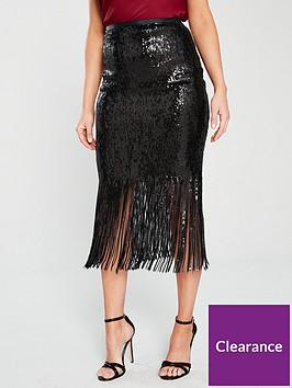 river-island-tassel-sequin-pencil-skirt-black