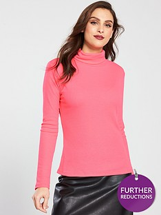 v-by-very-neon-roll-neck-pink