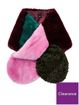 river-island-colour-block-faux-fur-stole