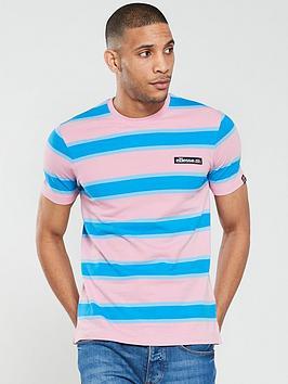 ellesse-pluto-striped-pique-t-shirt