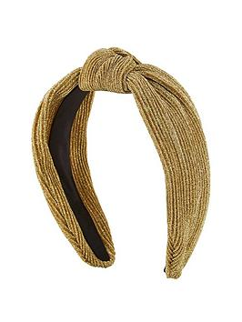 michelle-keegan-plisse-metallic-headband-gold