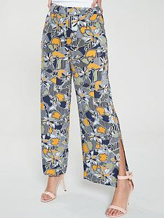 native-youth-geo-flora-side-split-printed-cropped-pant