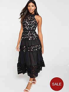 u-collection-forever-unique-racer-neck-lace-overlay-dress-blacknude