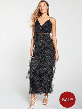 u-collection-forever-unique-polka-dot-ruffle-maxi-dress-black