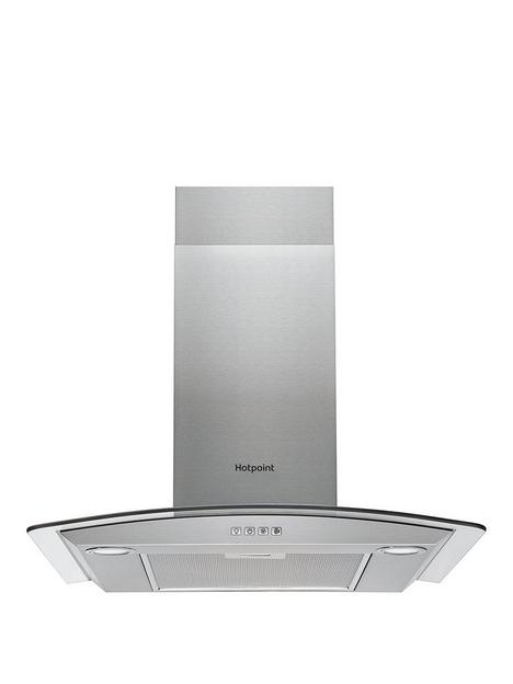 hotpoint-phgc74flmx-70cm-curved-glass-cooker-hood-stainless-steel