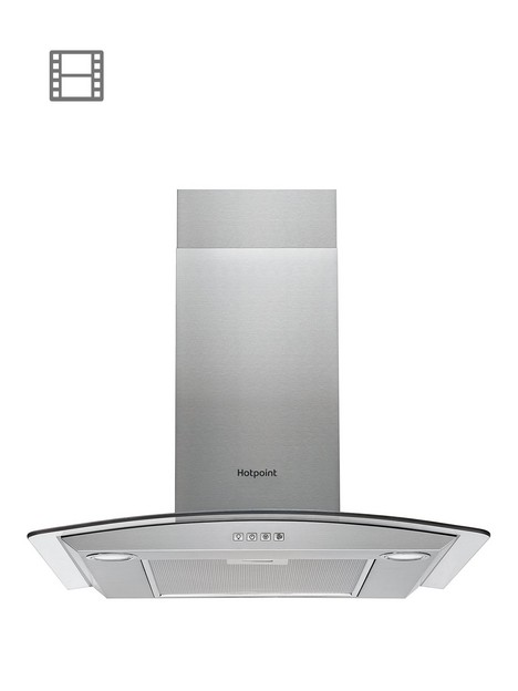 hotpoint-phgc64flmx-60cm-curved-glass-cooker-hood-stainless-steel