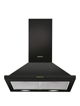 Hotpoint   Phpn6.4Flmk 60Cm Wide Pyramid Cooker Hood - Black
