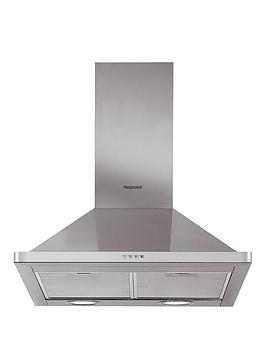 Hotpoint   Phpn6.5Flmx 60Cm Wide Pyramid Cooker Hood - Stainless Steel
