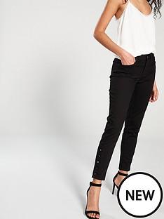 karen-millen-side-button-skinny-jean