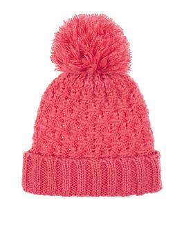 accessorize-lofty-cable-yarn-pom-beanie-hat-coralnbsp