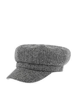 accessorize-baker-boy-hat-monochrome