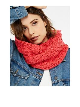 accessorize-lofty-cable-knit-snood-coral