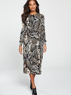 v-by-very-jersey-midi-dress-animal-print
