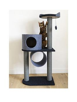 rosewood-felt-cat-double-tower--nbspcharcoalnbsp