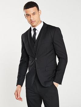 V by Very V By Very Slim Fit Jacket - Black Picture