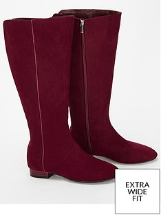 evans-extra-wide-fit-low-heel-long-boot-berrynbsp