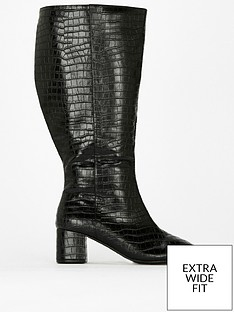 evans-extra-wide-fit-croc-block-heel-boot-blacknbsp