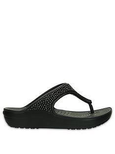 3ee4c57ee Crocs Sloane Embellished Wedge Flip Flop