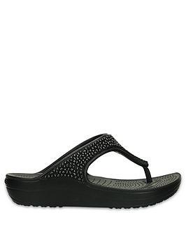 crocs-sloane-embellished-wedge-flip-flop