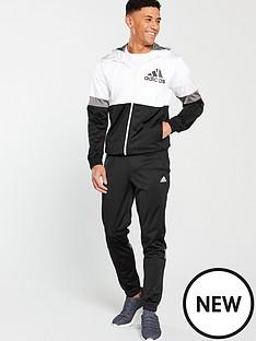 adidas-polyester-tracksuit-whiteblack