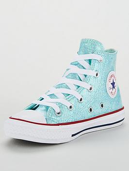 converse converse chuck taylor all star glitter junior hi-top