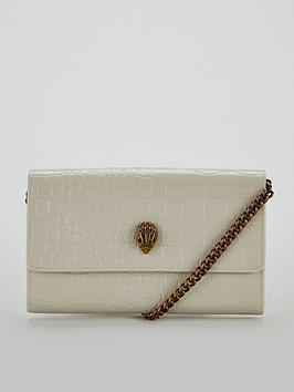 d4b135564a2c KURT GEIGER LONDON Kensington Bone Chain Wallet Bag - Bone ...