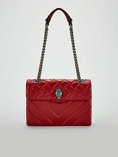 KURT GEIGER LONDON Leather Kensington Crossbody Bag - Red 04c689c9fb5f3
