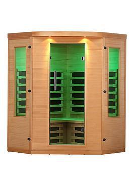 Canadian Spa Canadian Spa Aspen Far Infrared Corner 4 Person Sauna Picture