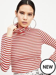 miss-selfridge-stripe-polo