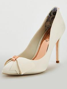 cba87f5bf8a6 Ted Baker Skalet Bow Heeled Shoe - Ivory