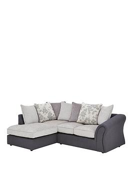 Very Viva Fabric Compact Left Hand Scatter Back Sofa Picture