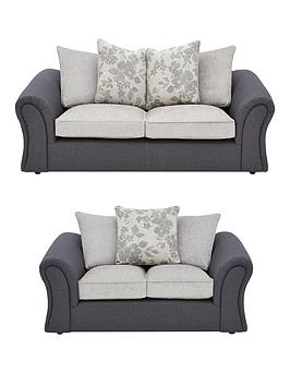 Very Viva Fabric Compact 3 Seater + 2 Seater Scatter Back Sofa Set (Buy  ... Picture