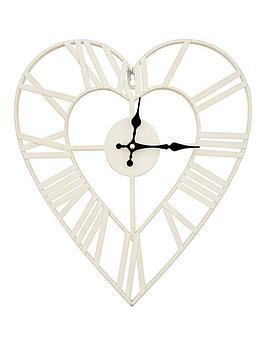 metal-heart-shape-wall-clock