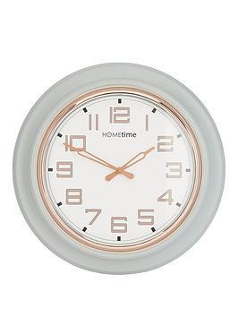 grey-rose-gold-round-wall-clock