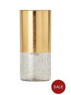 gold-speckled-glass-candle-holder